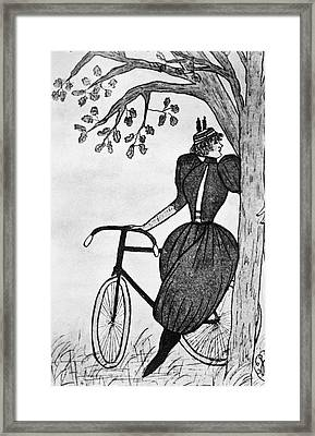 Gibson Girl: Bicycle Framed Print by Granger