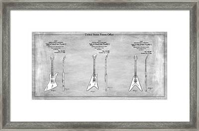 Gibson Guitar Patents 1958 Framed Print