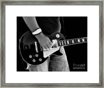 Gibson Les Paul Guitar  Framed Print by Randy Steele
