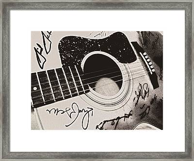 Gibson Or Gretch Framed Print by JAMART Photography