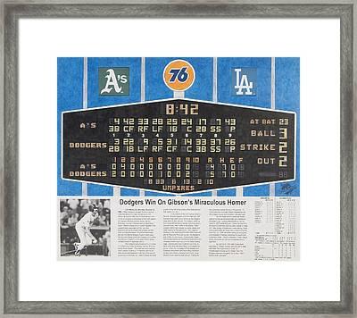 Gibson's 1988 World Series Homer Framed Print