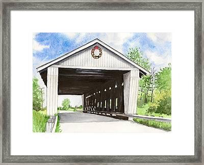 Giddings Road Bridge Framed Print