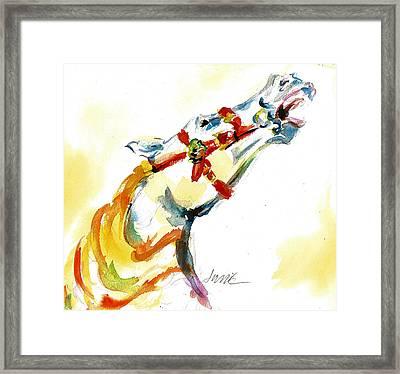 Giddy-up Carousel Horse Head Study Framed Print
