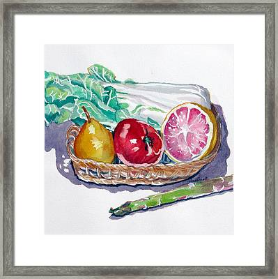 Gift Basket Framed Print by Jan Bennicoff