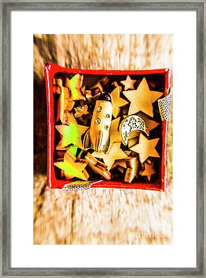 Gift Boxes And Astronomy Toys Framed Print by Jorgo Photography - Wall Art Gallery