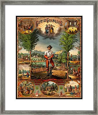 Gift For The Grangers 1873 Victoiran National Grange Agriculture Promotional Art Framed Print