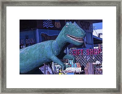 Gift Shop Dinosaur Route 66 Framed Print