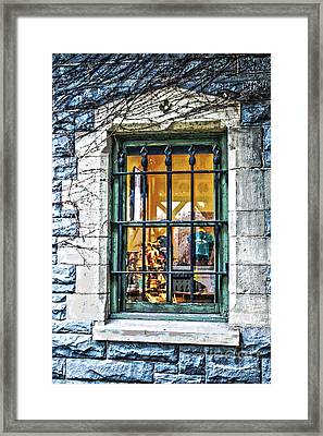 Gift Shop Window Framed Print