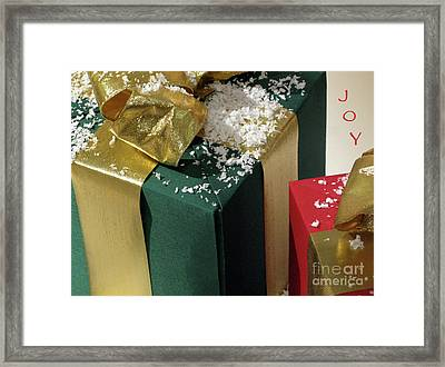 Gift Wrapped And Ready Framed Print by Ann Horn
