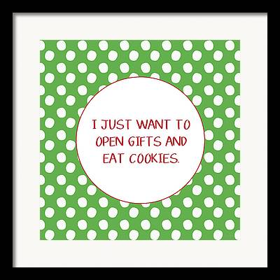 Christmas Cookies Framed Prints
