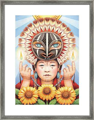 Gifts Of The Sun Spirit Framed Print by Amy S Turner