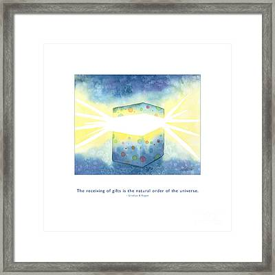 Framed Print featuring the painting Gifts Of The Universe by Kristen Fox