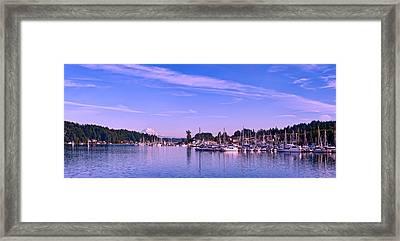 Gig Harbor Bay Framed Print