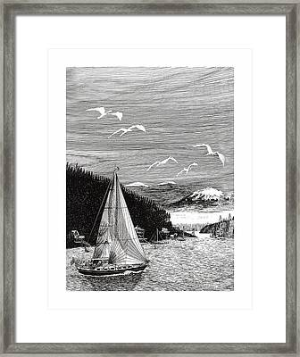 Gig Harbor Sailing School Framed Print by Jack Pumphrey