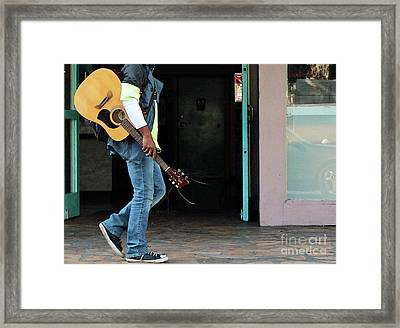 Framed Print featuring the photograph Gig Less by Joe Jake Pratt