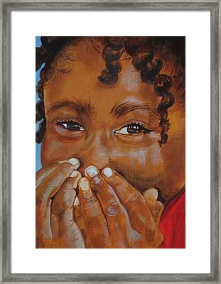 Giggles Framed Print by Charon Rothmiller