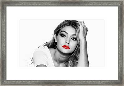 Gigi Hadid 1c Framed Print