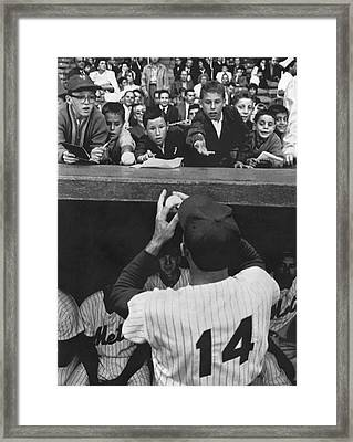 Gil Hodges Baseball Fans Framed Print by Underwood Archives