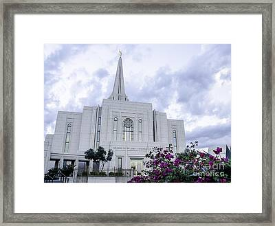 Gilbert Arizona Lds Temple 2 Framed Print
