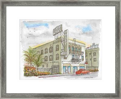 Gilbert Hotel In Hollywood, California Framed Print
