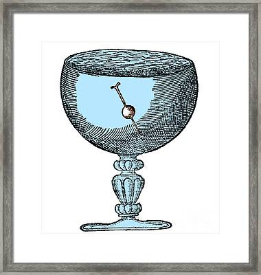 Gilberts Experiment Showing Magnetic Dip Framed Print