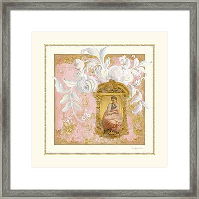 Gilded Age II - Baroque Rococo Palace Ceiling Inspired Framed Print by Audrey Jeanne Roberts