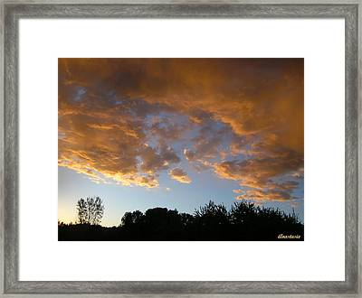Framed Print featuring the photograph Gilded Cloud Bellies Above The Western Skyline by Anastasia Savage Ealy