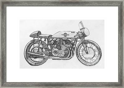 Gilera 500-4 Racer Framed Print by Stephen Brooks
