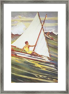 Gilles Man Surfing Framed Print by Hawaiian Legacy Archive - Printscapes