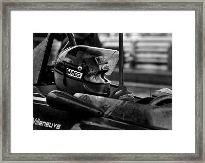 Gilles Villeneuve 1950-1982 Framed Print by Mike Flynn