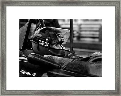 Gilles Villeneuve 1950-1982 Framed Print