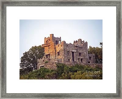Gillette Castle Framed Print by Linda Troski