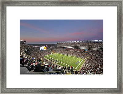 Gillette Stadium In Foxboro  Framed Print