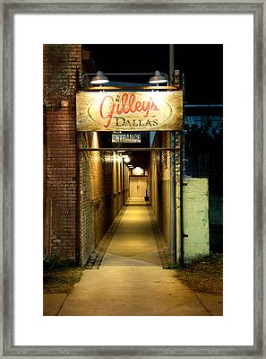 Gilleys Of Dallas At Night Framed Print by Michelle Shockley