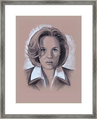 Gillian Anderson X Files Framed Print