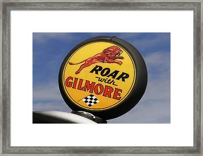 Gilmore Gas Globe Framed Print by Mike McGlothlen