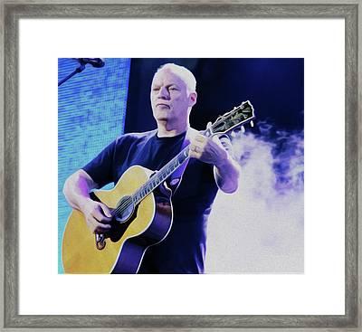 Gilmour Guitar By Nixo Framed Print