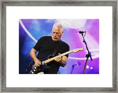 Gilmour Maroon Nixo Framed Print