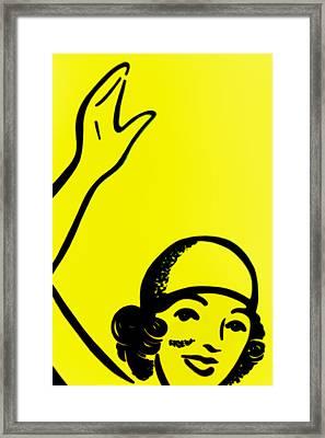 Gilr In Yellow Framed Print by John Gusky