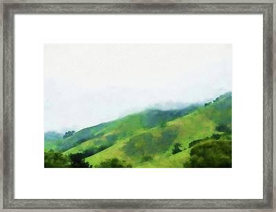 Gilroy Hills Framed Print