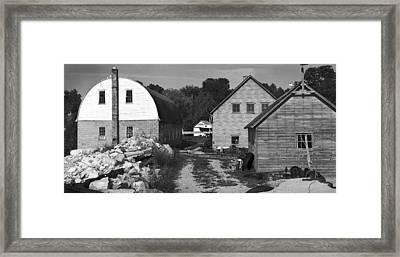 Gils Rock Harbor Framed Print