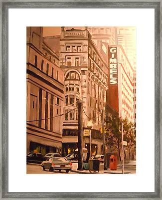 Gimbels In Pittsburgh Framed Print by James Guentner