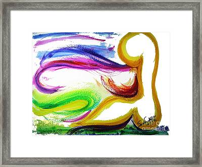 Gimel - Breathe Framed Print