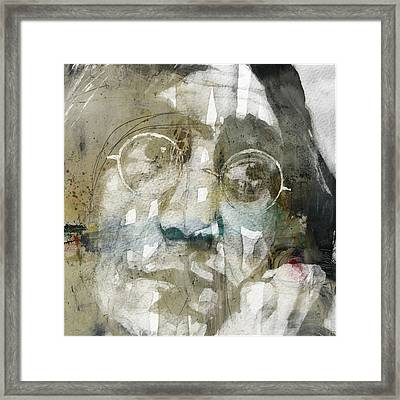 Gimme Some Truth  Framed Print by Paul Lovering