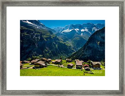 Gimmelwald In Swiss Alps - Switzerland Framed Print