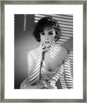 Gina Lollobrigida, Ca. Early 1960s Framed Print by Everett