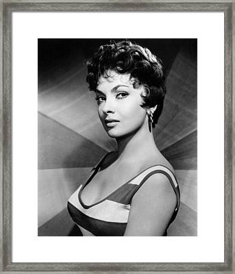 Gina Lollobrigida, Ca. Late 1950s Framed Print by Everett