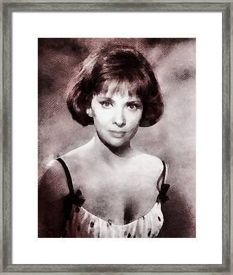 Gina Lollobrigida Hollywood Actress Framed Print by John Springfield