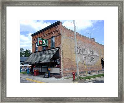Framed Print featuring the photograph Gina's Pies Are Square by Mark Czerniec