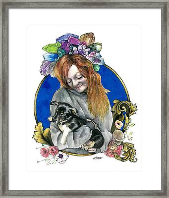 Ginger And Her Lovelies Framed Print by Arleana Holtzmann